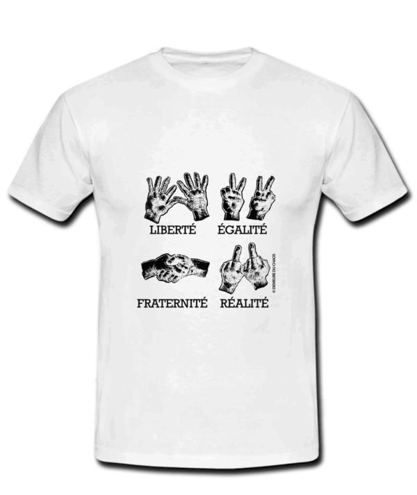 T-shirt Liberté-Réalité